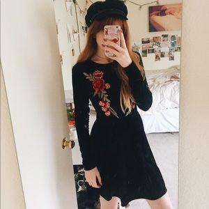 NWOT Nasty Gal 'Glamorous' Brand Velvet Dress